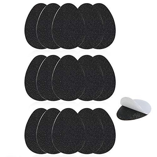 15 Paar Anti Rutsch Sohle Pads Selbstklebende Rutschfeste Sohle Schutz Kissen für High Heel Schuhe Protektoren Gummi Aufkleber (Schwarz)