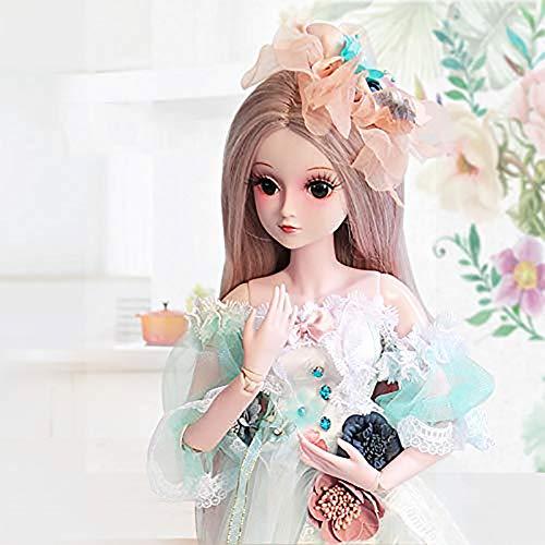 ZNDDB Simulation Reborn Baby Puppe Süßes Mädchen langes Haar Prinzessin 23,6 Zoll 60cm, Kinderspielzeug Geburtstagsgeschenk
