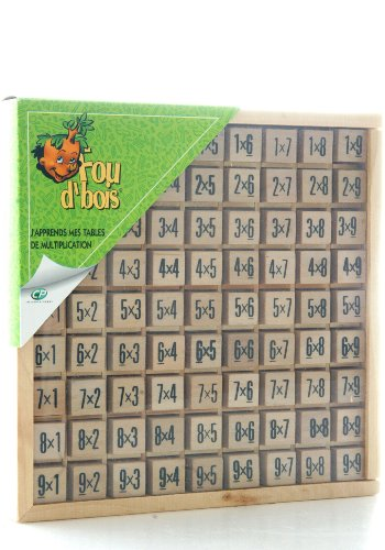 Table de multiplication en bois