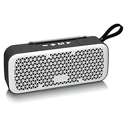 Zks Portable Radio, Bluetooth 4.0 Rétro Haut-Parleur Radio Haut-Parleur Stéréo avec Port USB Et AUX Port De Sortie pour Marche Randonnée Camping Walkman Pocket,Blanc