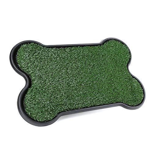 Inodoro para perros Caja de arena para perros pequeños Inodoro Césped artificial...