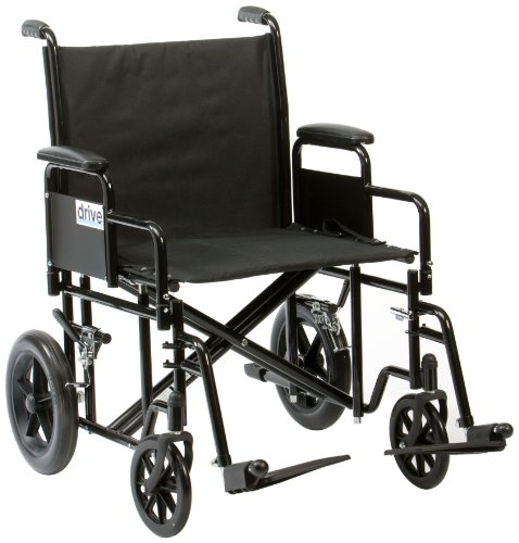 Drive Bariatric / Heavy Duty Steel Transport Chair, 22 Inch Seat Width