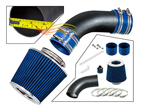 S & T RACING INC MATTE BLACK PIPE BLUE - SHORT RAM INTAKE Compatible For 02-05 AUDI A4 / A6 STSI-AD-ST02BLB