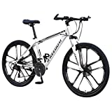Kobay-women Adult Mountain Bike,26 inch Wheels,Carbon Steel Mountain Bike Shimanos 21 Speed Bicycle
