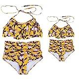 UOKNICE Swimwear for Womens, Summer Mother and Daughter Print Two Piece Matching Clothing Beachwear Tankini Bikini Athena Leaf Flag Panache Freya Jantzen tyr vikini tan Through