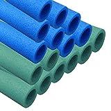 AWM Trampolin Schaumstoffpolster blau/grün, Schaumstoff Schaumstoffrohre Stangenschutz- Set (16x...