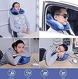 SUPRBIRD Nackenkissen Reisekissen Tragbare Nackenstützen Reise stützendes,bequemes und leichtes Reisekissen für Schlaf im Flugzeug, Auto oder Zug - 6