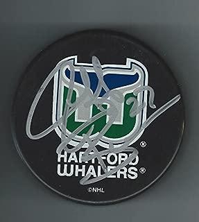 Jeff Brown Autographed Puck - Autographed NHL Pucks