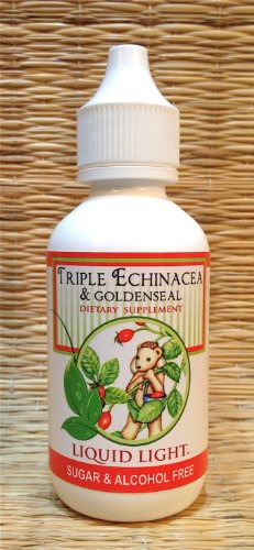 Triple Echinacea & Goldenseal (2 oz Bottle) - Immune, Ear Infections, Respiratory Support. Child Safe. Used Safely and Effectively for Over 20 Years.