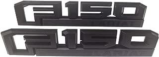 2pcs F150 Lariat Fender Emblems 3D Badge Nameplate Replacement for 2015 2016 2017 2018 2019 F-150 Decal Black Original Size