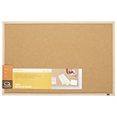 Natural cork bulletin board holds documents in place Oak finish frame For occasional use in any small or home office Mounts horizontally and vertically, includes easy-to-use mounting system to hold board in place 23 inch x 35 inch OEM toner yellow 40...