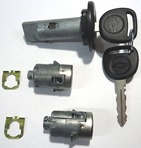 Select Chevrolet GM OEM Ignition/Doors Lock Key Cylinder Set With Keys To Match