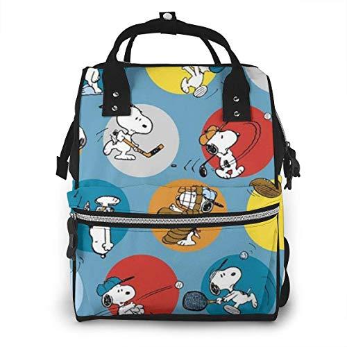 Snoopy Play Ball - Mochila impermeable para pañales