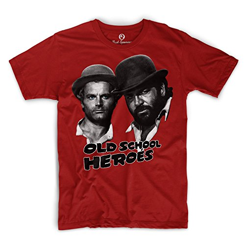 Bud Spencer Official - T-shirt - Uomo rosso XXXX-Large