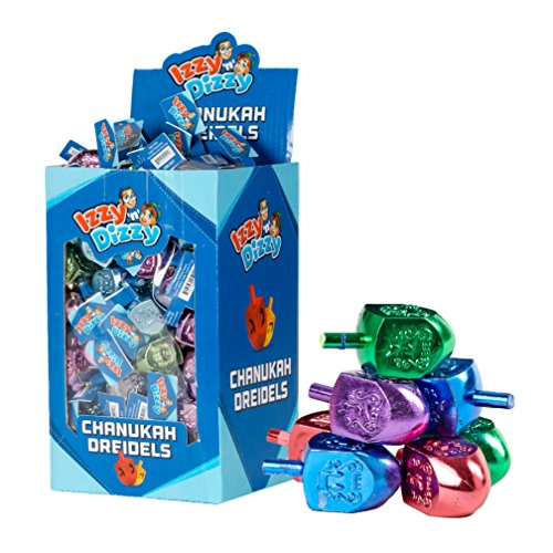 50 Large Dreidels - Metallic Colored - Classic Chanukah Spinning Draidel Game, Gift and Prize - Bulk Value Pack - by Izzy n Dizzy