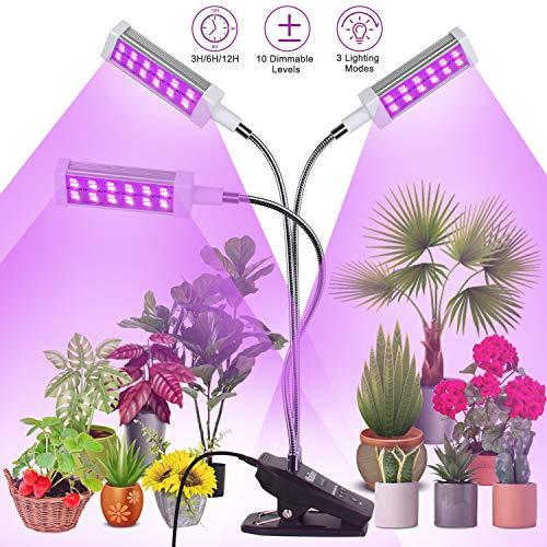 Railee Pflanzenlampe LED Pflanzenlicht Grow Lampe Pflanzenleuchte 72W 144 LEDs Wachstumslampe Wachsen Licht Vollspektrum für Zimmerpflanzen mit Zeitschaltuhr 3 Modi 10 Lichtstärken