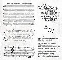 背景クリスマスクリアスタンプ/DIYスクラップブッキング用シール/フォトアルバム装飾クリアスタンプシートA6009