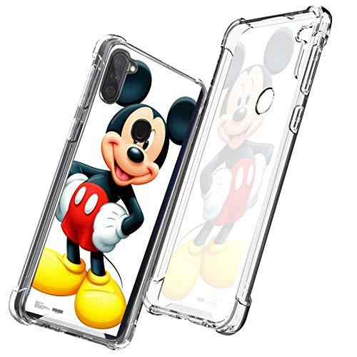 DISNEY COLLECTION Carcasa transparente para Samsung Galaxy A11, diseño de Mickey Mouse, delgada, a prueba de golpes, antiarañazos, para Samsung Galaxy A11