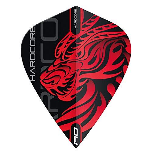 RED DRAGON Hardcore Jonny Clayton Dragon Kite Dart Flights - 3 Sets Per Pack (9 Dart Flights in total)