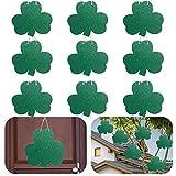 EBaokuup 9PCS St. Patrick's Day Shamrock Hanging Ornaments - 10x 9 Inch Large Shamrocks Clover Door Sign Ornaments, St. Patrick's Day Tree Hanging Decor