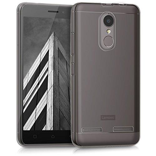kwmobile Hülle kompatibel mit Lenovo K6 - Silikon Handyhülle transparent - Handy Hülle in Schwarz
