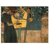 JUNIWORDS Poster, Gustav Klimt, Die Musik, 39 x 30 cm
