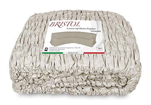 tex family COPRIDIVANO ANGOLARE Universale Bristol Panna Unito
