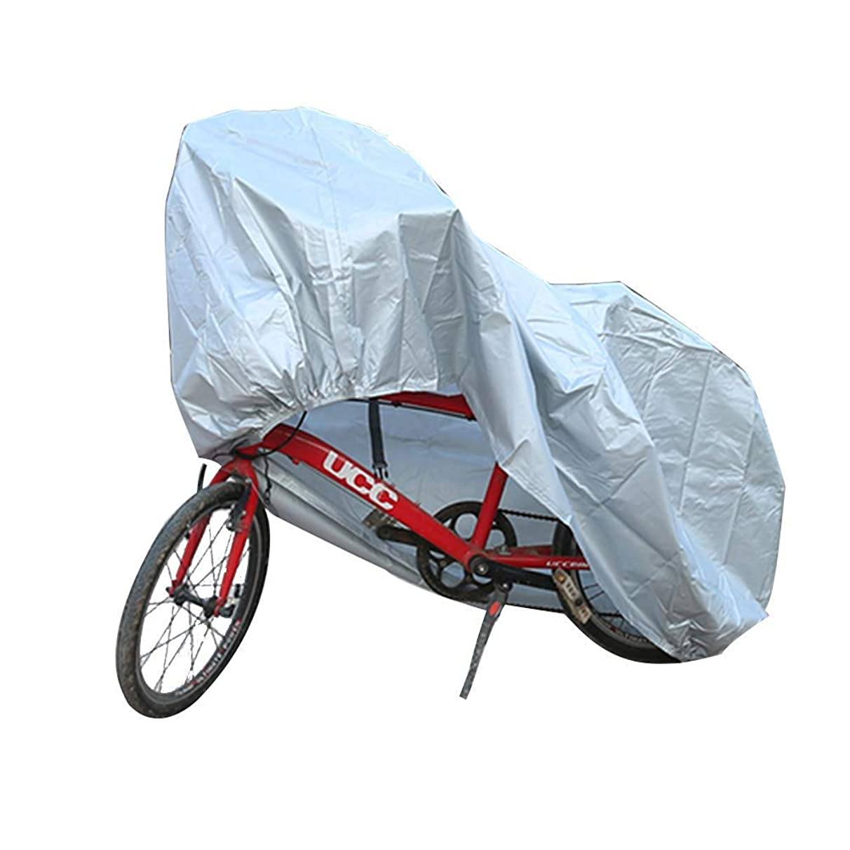 Waterproof Bike Cover Shade Net/Sunscreen Tarpaulin,Antirust Dust-Proof Avoid Inclement Weather Easy to Store,Multiple Sizes Available, WenMing Yue, Silver, m