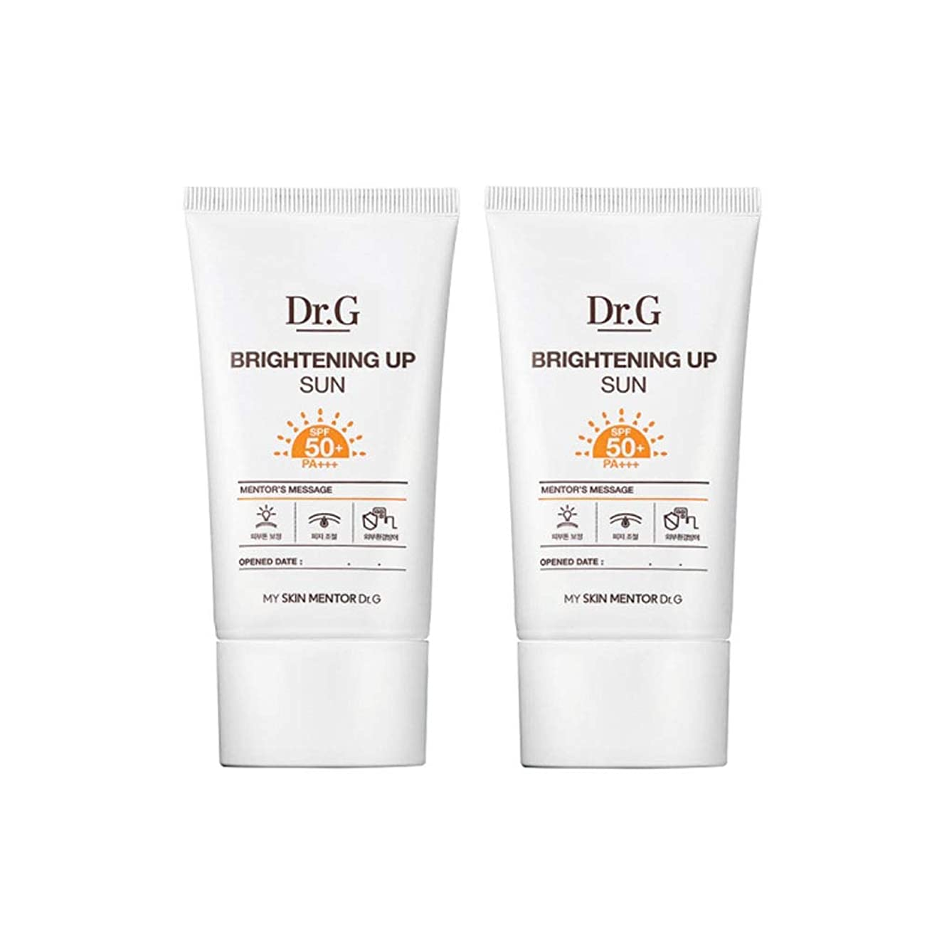 直径歴史マティスドクターGブライトニングアップサンSPF50+ PA+++50ml x2本セットサンクリーム、Dr.G Brightening Up Sun SPF50+ PA+++ 50ml x 2ea Set Sun Cream [並行輸入品]