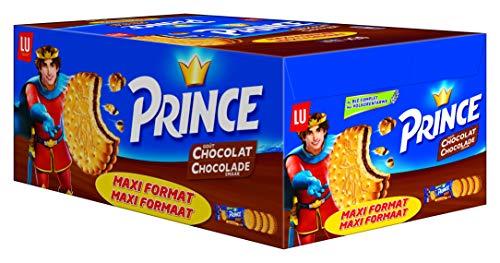 Prince de LU Chocolat - Au Blé Complet - Présentoir de 20 Sachets Maxi Format de 4 Biscuits (80 g)