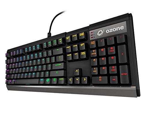 Ozone Gaming Strike X30 - OZSTRIKEX30SPRD - Teclado Gaming Mecánico RGB LED, Plug&Play, Switches Kailh, Numerico, Layout Español, Color Negro