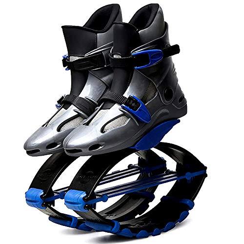 Gmadostoe Zapatos de Fitness Rebote, antigravedad Running Boots, Unisex Uso Interior y Exterior Zapatos Peso Jump Pierde,Gray Blue,18
