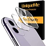 [2 Pack] UniqueMe Protector de lente de cámara Compatible con iPhone 11 / iPhone 12 mini Cristal Templado, Protector de Pantalla [9H Dureza ] [Sin Burbujas] HD Film Vidrio Templado