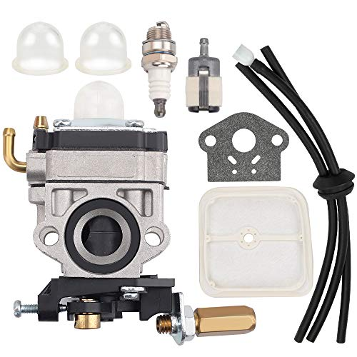 BQBS 12300057730 Carburetor for Echo SRM2601 SRM2400 SRM2610 PE2601 SRM270 SRM270U PE2601 PAS2601 Weed Eater Trimmer Replace Walbro WYJ-192-1 Carb with Air Filter Tune Up Kit