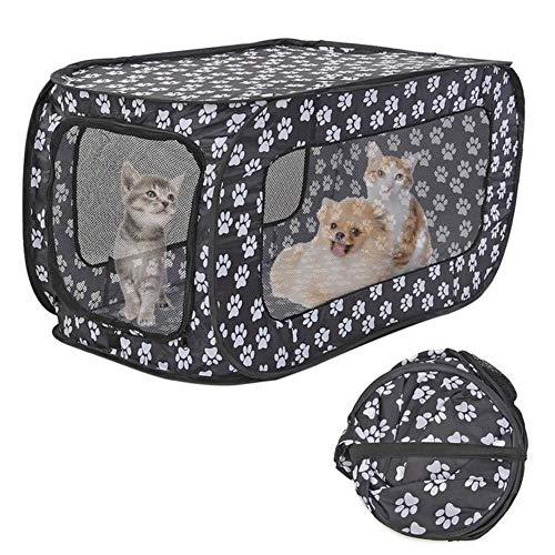 Abn Faltbares Haustier-Zelt, Hundehütte, Welpen-Nest, Hundehütte, Katzenzelt, einfache Bedienung, rechteckig, Outdoor-Zubehör, a, M