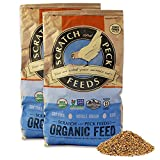 Scratch and Peck Feeds Naturally Free Organic Chicken Feed 16% Layer for Chickens and Ducks - 25-lb (2-Pack) - Non-GMO Project Verified, Soy Free and Corn Free - 2004-50