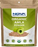 Nova Nutritions Certified Organic Amla Powder (Amalaki) 16 OZ (454 gm) - Rich in Antioxidant Vitamin C - Supports Healthy Immune Function