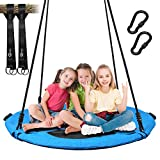 Trekassy 700lb Saucer Tree Swing for Kids Adults 40 Inch Textliene Wear- Resistant Waterproof Frame Includes 2 Tree Hanging Straps