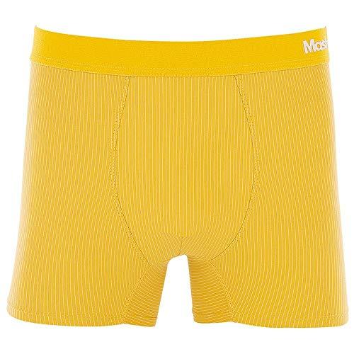 Cueca Boxer Microfibra Risca de Giz Amarelo escuro P