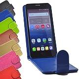 Flip 2 in 1 set Tasche für Hisense Sero 5 Slide Kleber Hülle Case Cover Schutz Bumper Etui Handyhülle in Blau