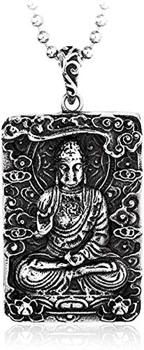 FACAIBA Necklace Necklace Pendant Necklace Buddha 316l Stainless Steel Chinese Style Avalokitesvara Jewelry Gift for Women Men Gifts