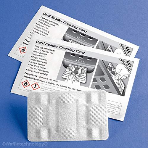 KICTeam Waffletechnology Smart Card Reader Cleaning Card, 40 Pack