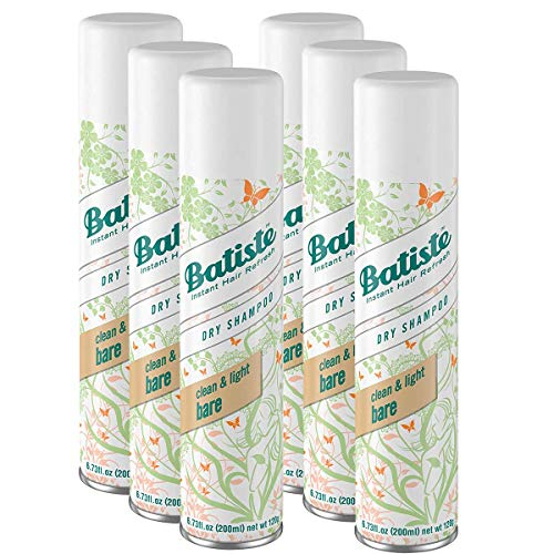 Batiste Dry Shampoo, Bare Fragrance, 6.73 fl. oz. PACK OF 6