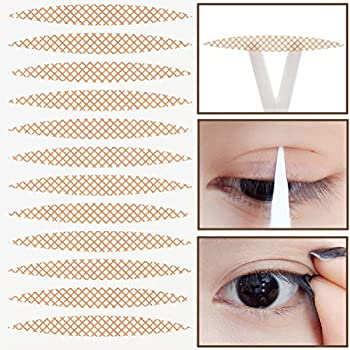 800PCS  400 Pairs  Single-Sided Lace Mesh Breathable No Trace Waterproof Invisible Double Eyelid Tape Stickers Natural Long-Lasting Sticky Self-Adhesive Double Eye Tape Tools for Make Up