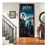 Tmpty Papel Pintado de la Puerta Harry Potter, Autoadhesivo, for renovar y Decorar Pared Sala Estar Cocina Dormitorio habitación 77 x 200 cm (Color : C)