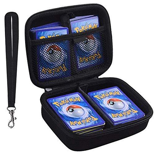 PAIYULE 400+ Karten Tragen Tasche für Pokemon sammelkarten, Pokemon hüllen Album passt für Phase 10 Monopoly gx kartenspiel-schwarz