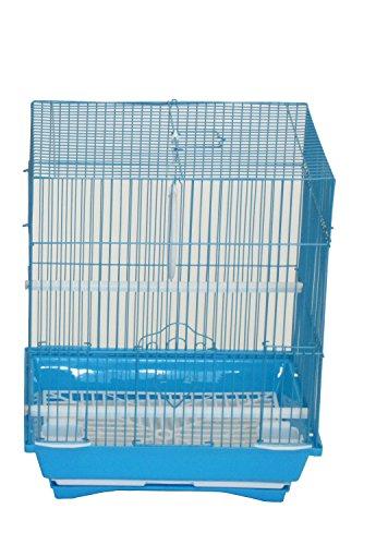 YML A1324mblu Dessus Plat Medium Cage à perruches, 33,8 x 27,4 x 41,9 cm