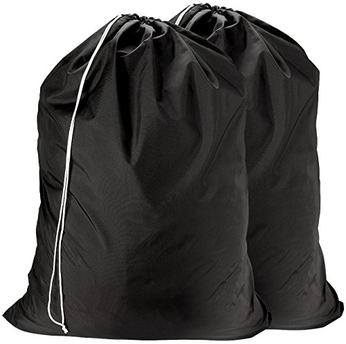 Nylon Laundry Bag - Locking Drawstring Closure and Machine Washable. These Large Bags Will Fit a Laundry Basket or Hamper and Strong Enough to Carry...