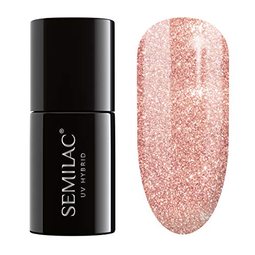 Semilac UV Hybrid-Nagellack, Nummer 094, 7 ml, Pink-Gold