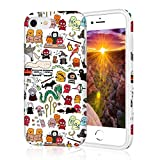 Protective Adorable Phone Case for iPhone 8, Raised Edges Scratch Resistant Light Weight Thin Flexible Soft TPU Glossy Bright Rubber Silicone Phone Cover for iPhone 7 & iPhone 8 - Harry Potter Doodle